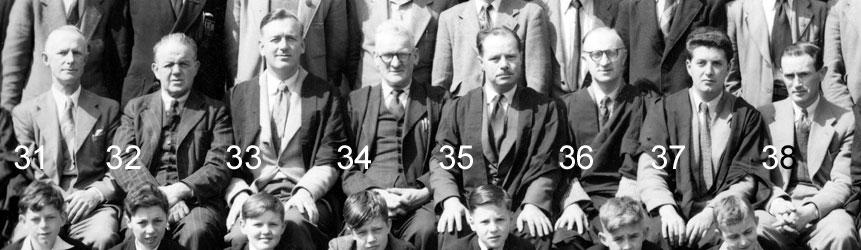Aberdare Boys Grammar School: Section of 1954 photograph ...