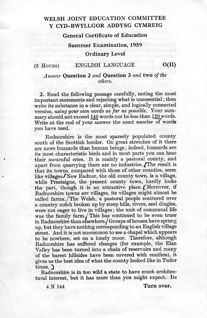 Essay on english language