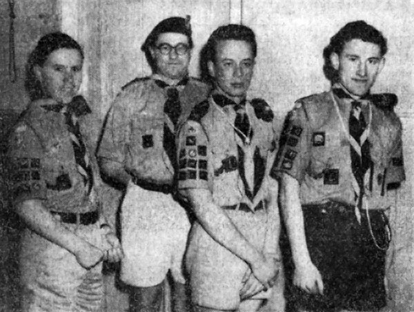 Scouts From Left To Right Jeffrey Hall John Tomkins And